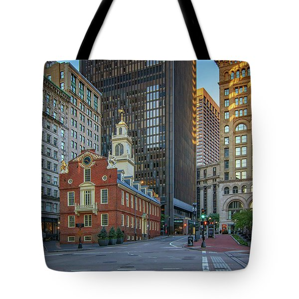 Early Morning At The Old Statehouse Tote Bag