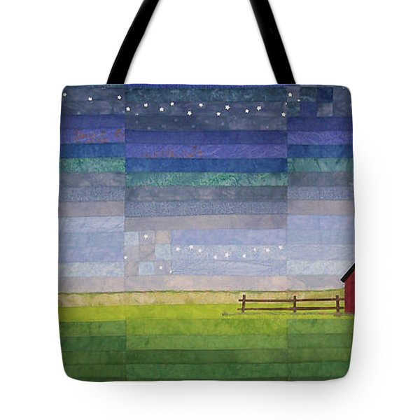 Early Morning Nine Patch Tote Bag