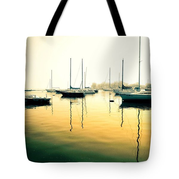 Early Mornings At The Harbour Tote Bag