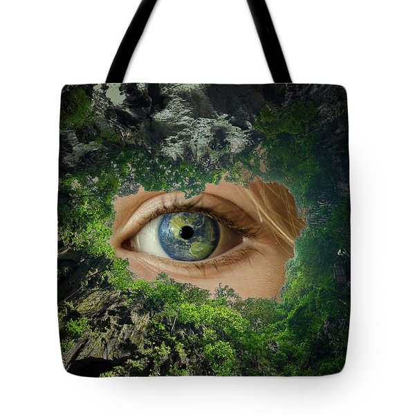 Earth Is Watching You Tote Bag