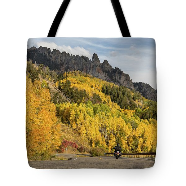 Tote Bag featuring the photograph Easy Autumn Rider by James BO Insogna