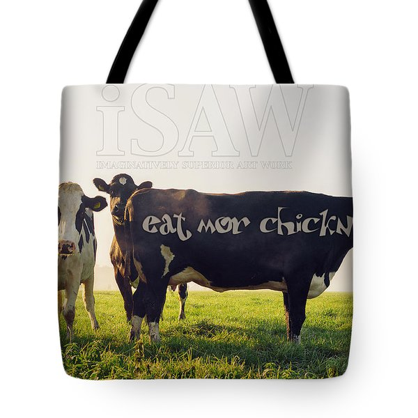Eat Mor Chickn Tote Bag