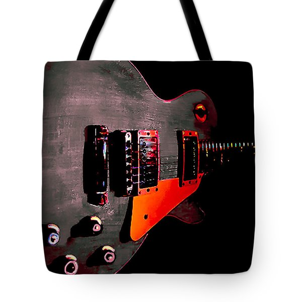 Ebony Relic Guitar Hover Series Tote Bag
