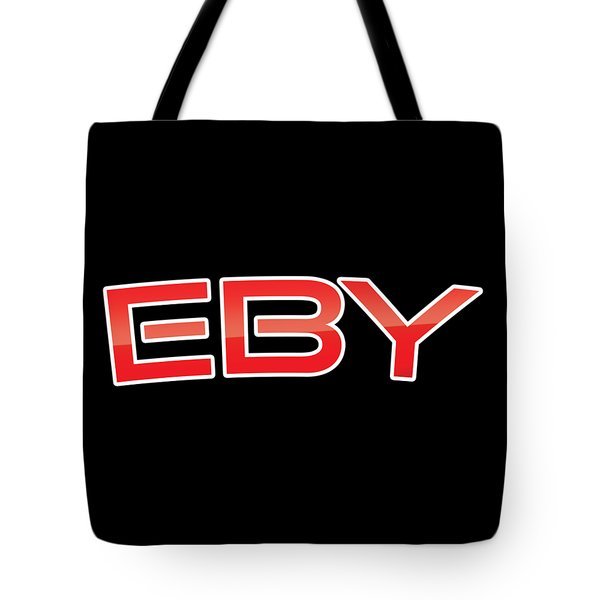 Tote Bag featuring the digital art Eby by TintoDesigns