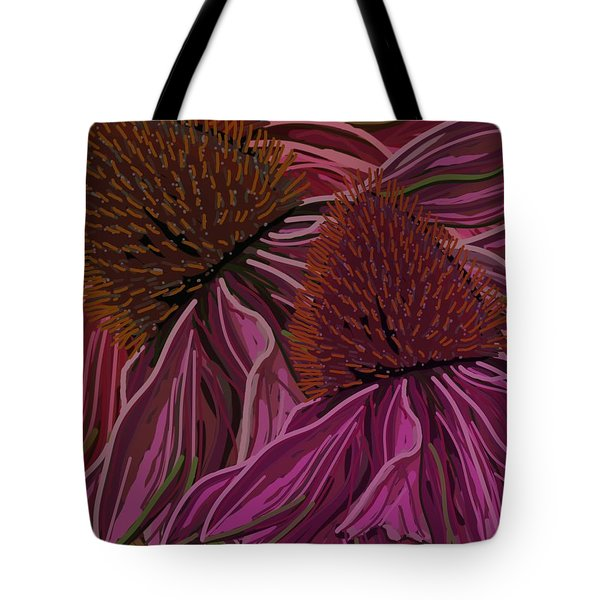 Echinacea Flower Blues Tote Bag