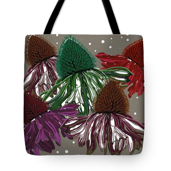 Echinacea Flowers Dance Tote Bag