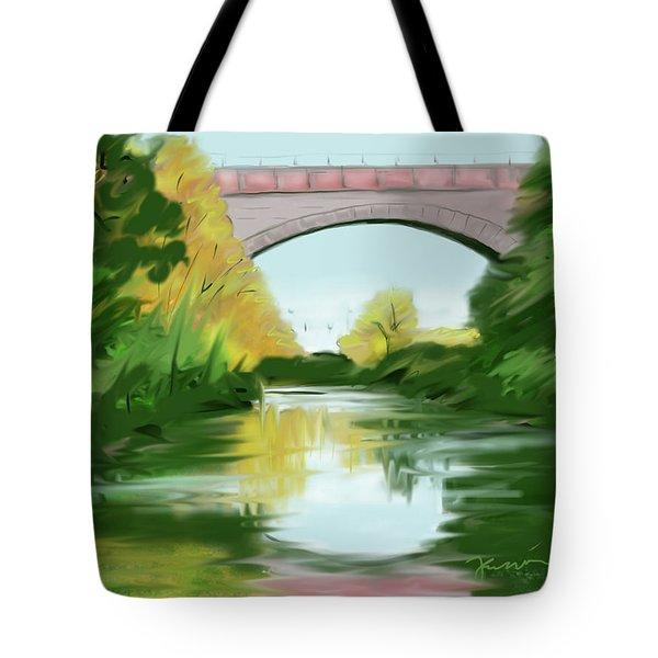 Echo Bridge Tote Bag