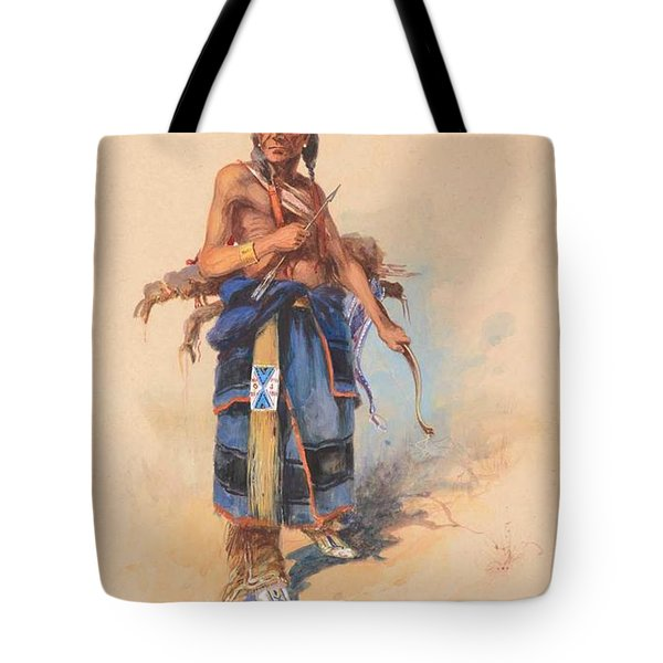 Edgar S. Paxson 1852-1919 The Arrow - Crow Warrior, Hairy Moccasin Custer Scout 1908 Tote Bag