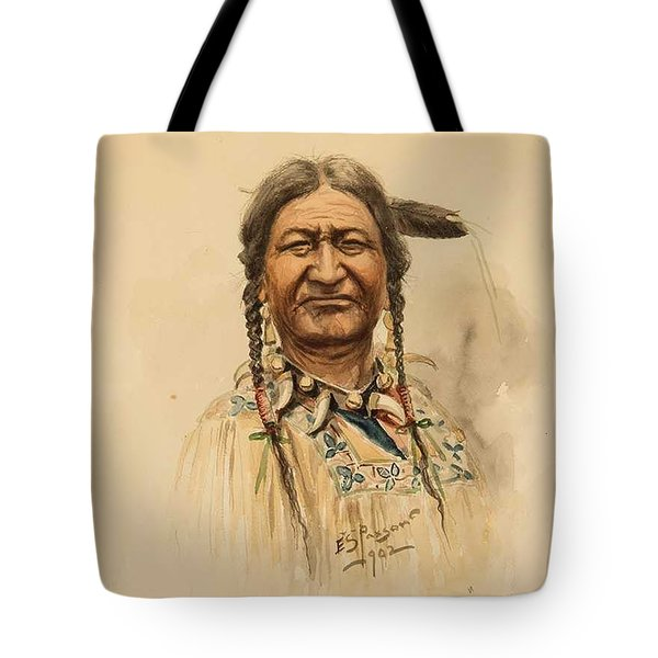 Edgar S. Paxson 1852-1919  Two Moon  War Chief Of The Crow Tote Bag