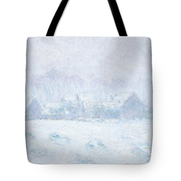 Effet De Neige A Giverny Tote Bag