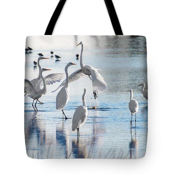 Egret Ballet 1400 Tote Bag