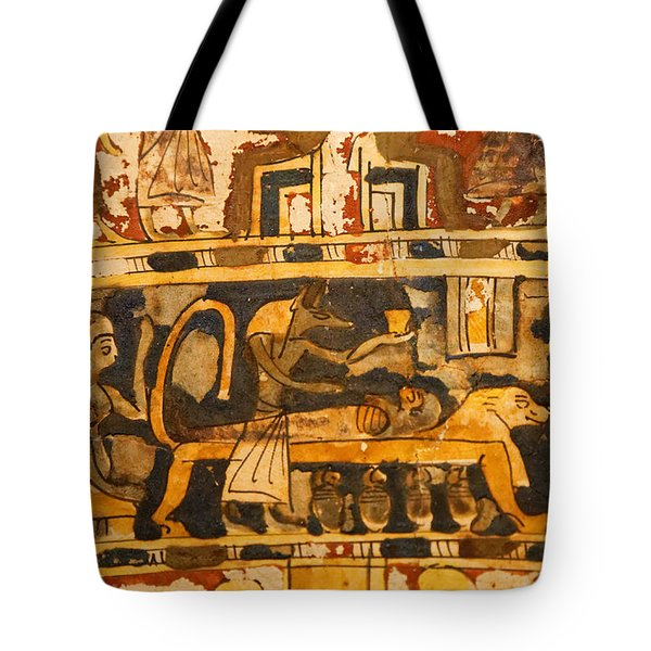Tote Bag featuring the photograph Egyptian Wall Art by Sue Harper