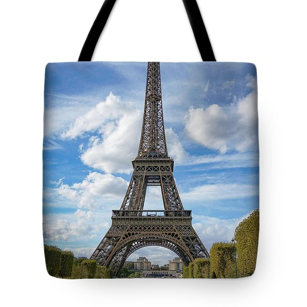 Tote Bag featuring the photograph Eiffel Tower by Jim Mathis