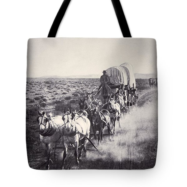 Eight Horse Heavy Freight Wagon Tote Bag
