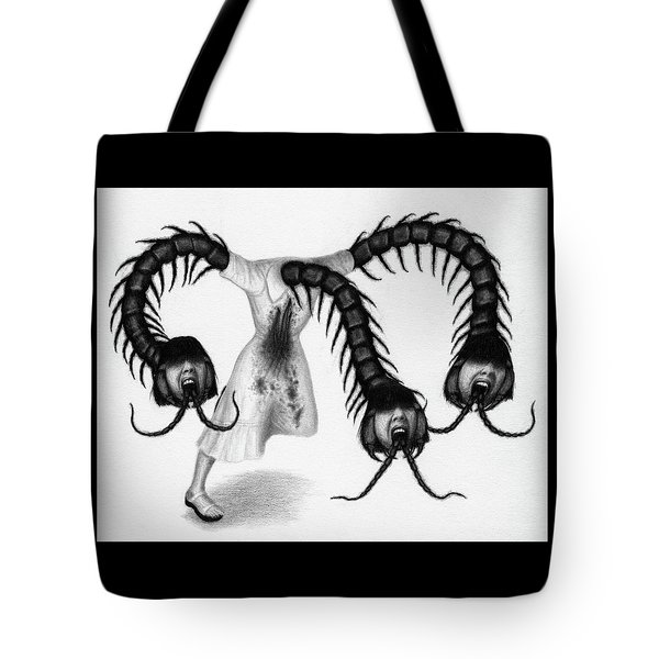 Tote Bag featuring the drawing Eiko The Demon - Artwork by Ryan Nieves