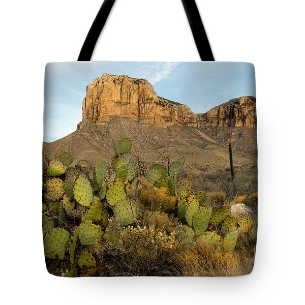 Tote Bag featuring the photograph El Capitan With Cactus by Joe Sparks