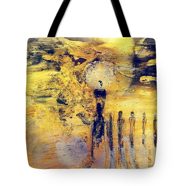 Tote Bag featuring the painting Elaine by 'REA' Gallery