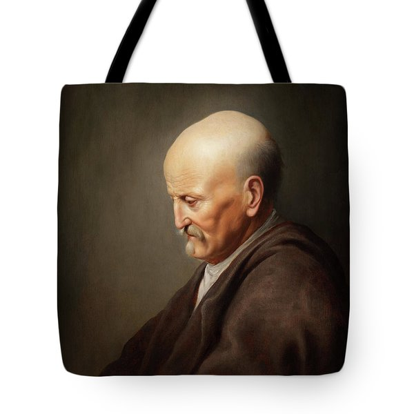 Elderly Man Tote Bag