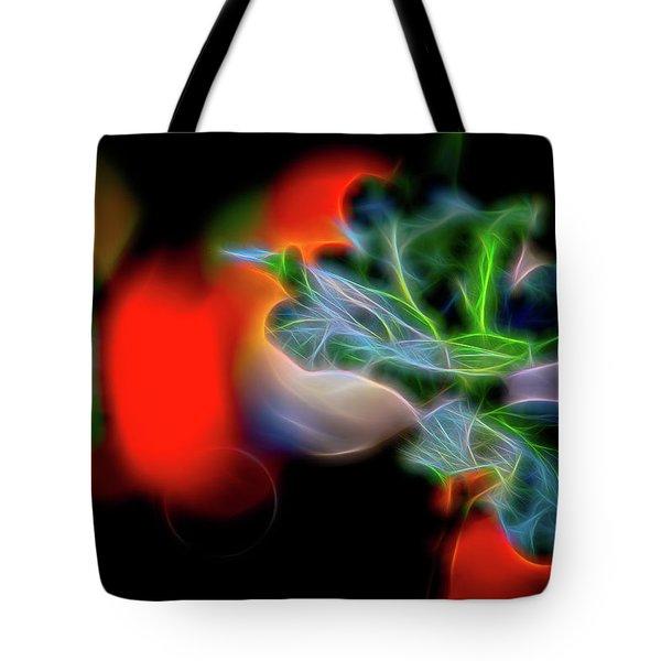 Electric Leaves Tote Bag
