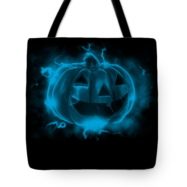 Electric Pumpkin Tote Bag