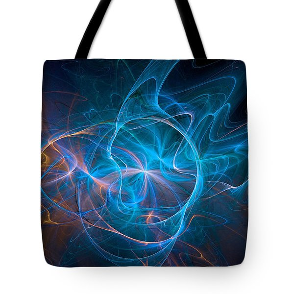 Electric Universe Blue Tote Bag