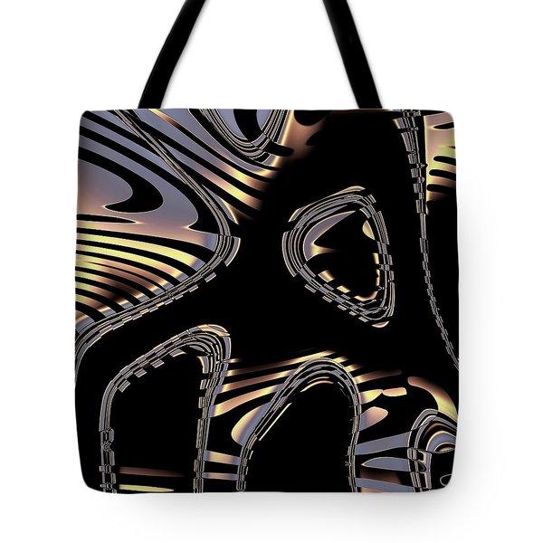 Elegant Black Fractal 2 Tote Bag