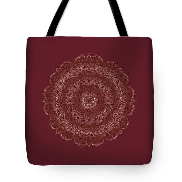 Tote Bag featuring the painting Elegant Golden Mandala Buddhist Symbol by Georgeta Blanaru