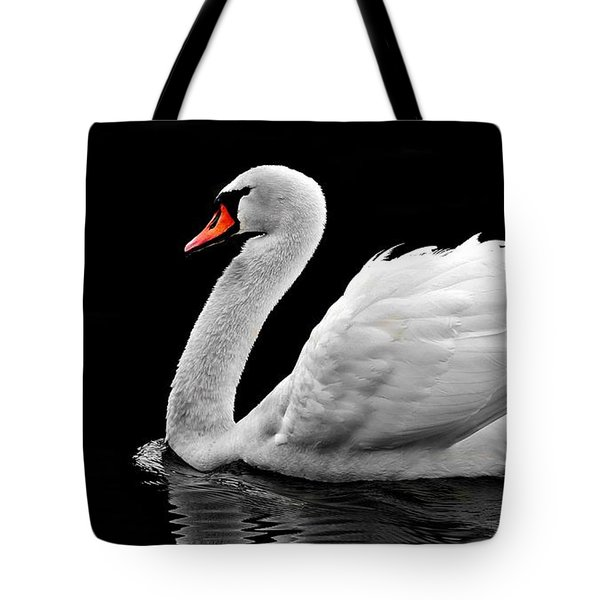 Tote Bag featuring the photograph Elegant Swan by Top Wallpapers