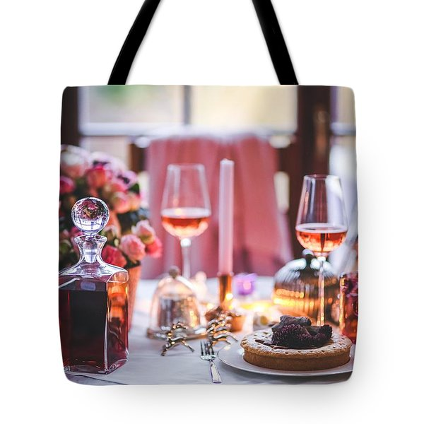 Tote Bag featuring the photograph Elegant Tablewear by Top Wallpapers