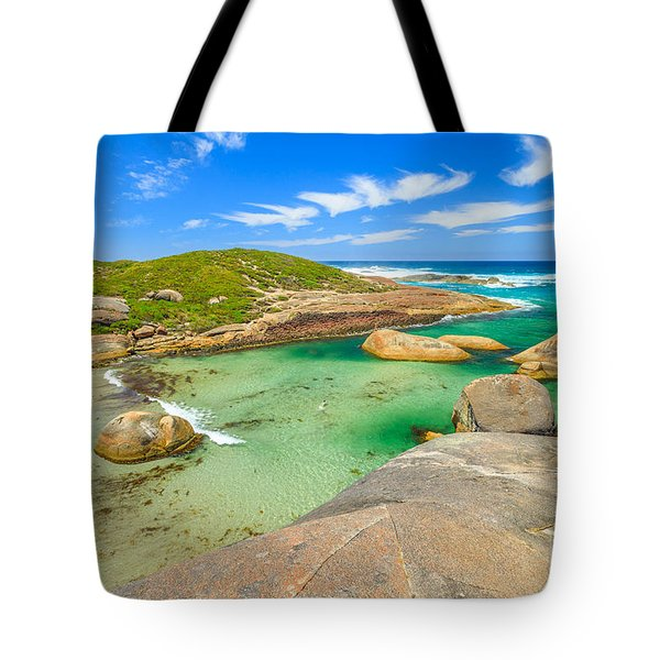 Tote Bag featuring the photograph Elephant Cove Beach Wa by Benny Marty