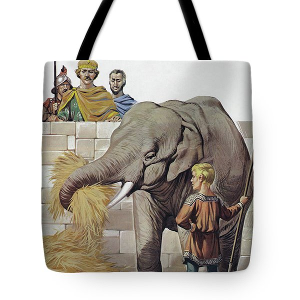 Elephant, Given To Charlemagne By Harun Al Rashid, Caliph Of Baghdad  Tote Bag