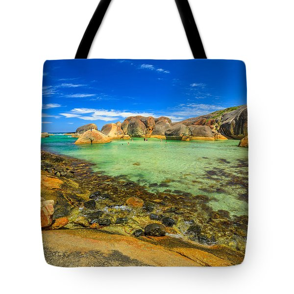 Tote Bag featuring the photograph Elephant Rocks In William Bay by Benny Marty