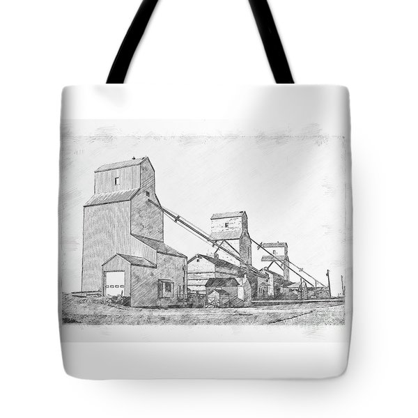 Tote Bag featuring the drawing Elevator Row by Brad Allen Fine Art