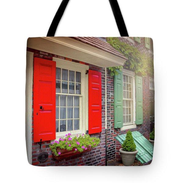 Elfreth's Alley Historic Philadelphia Tote Bag