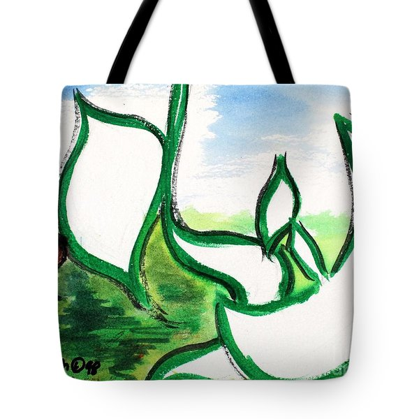 Tote Bag featuring the painting Eli Nm1-55 by Hebrewletters Sl
