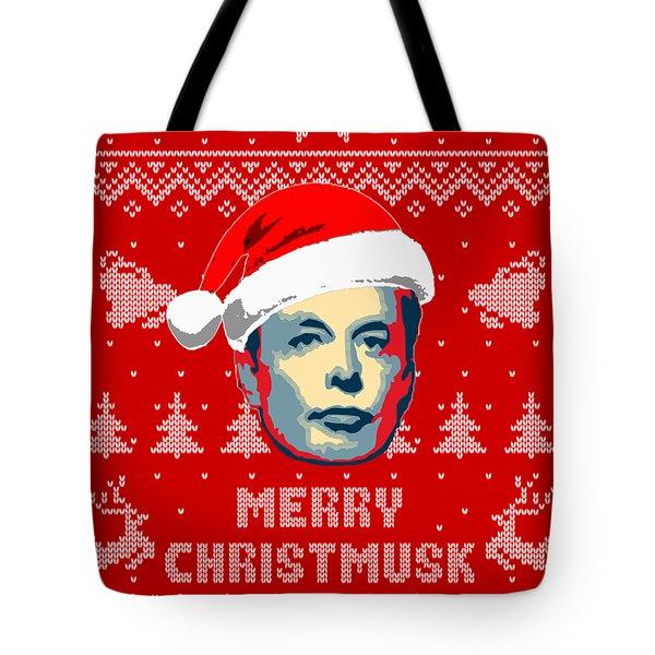 Elon Musk Merry Christmusk Tote Bag