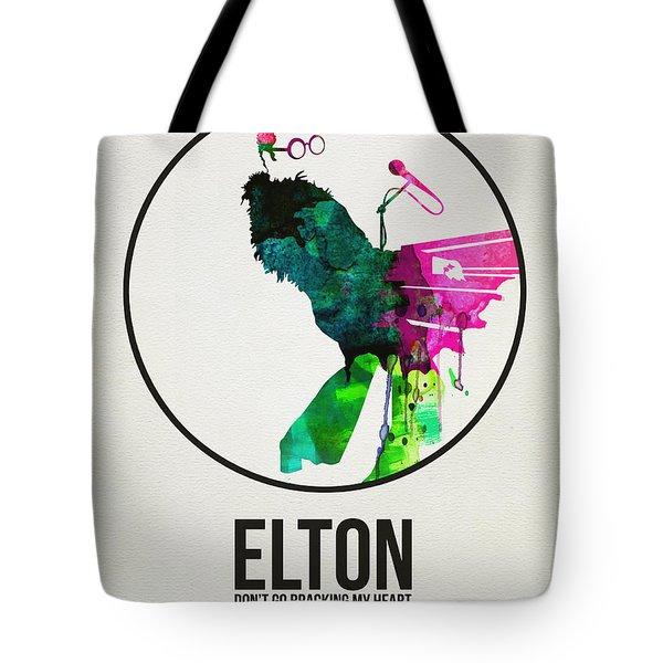 Elton Watercolor Poster Tote Bag