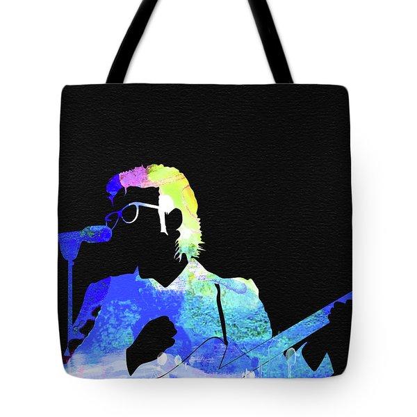 Elvis Costello Watercolor Tote Bag