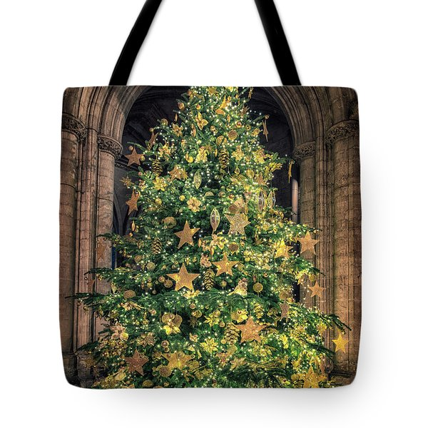 Ely Cathedral Christmas Tree 2018 Tote Bag