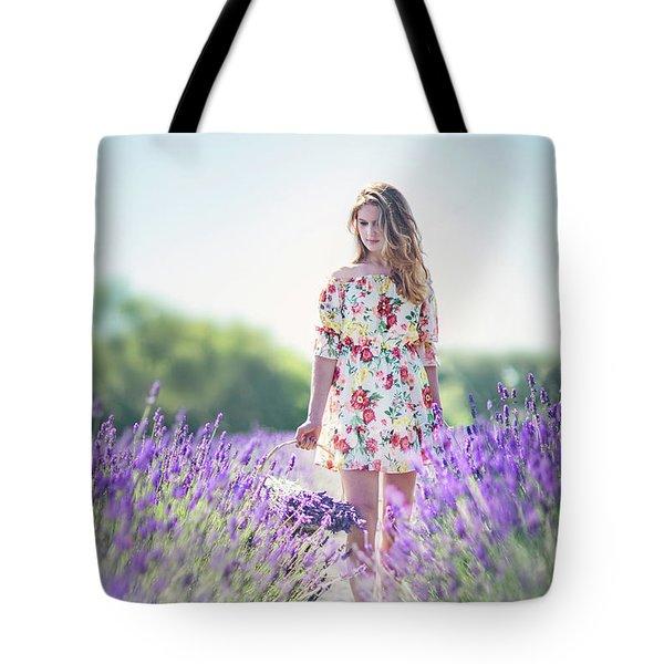 Embraced In Lavender Tote Bag