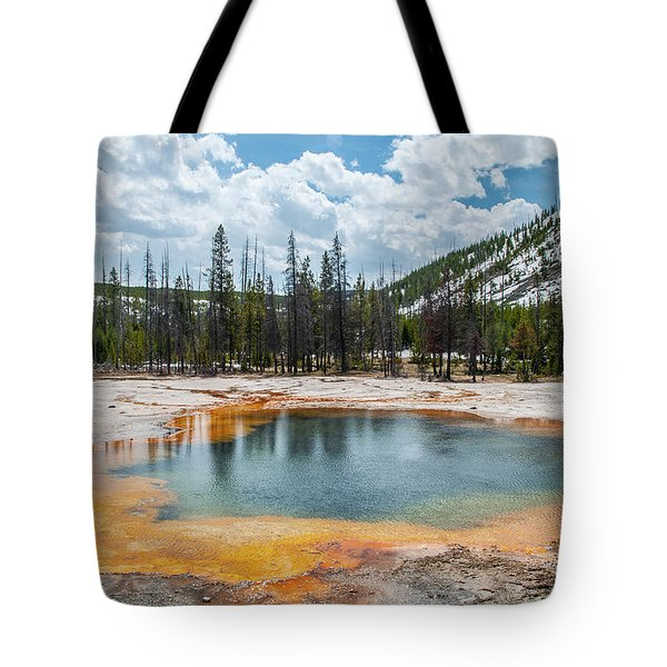 Tote Bag featuring the photograph Emerald Pool by Matthew Irvin