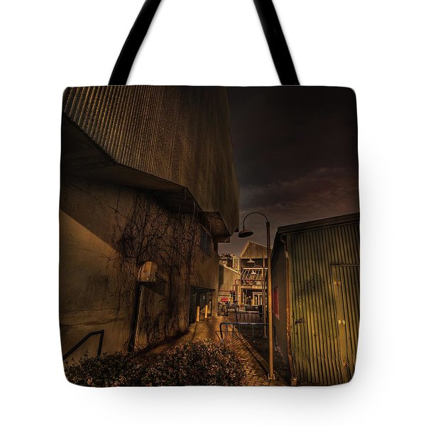 Tote Bag featuring the photograph Emily Carr Alley by Juan Contreras