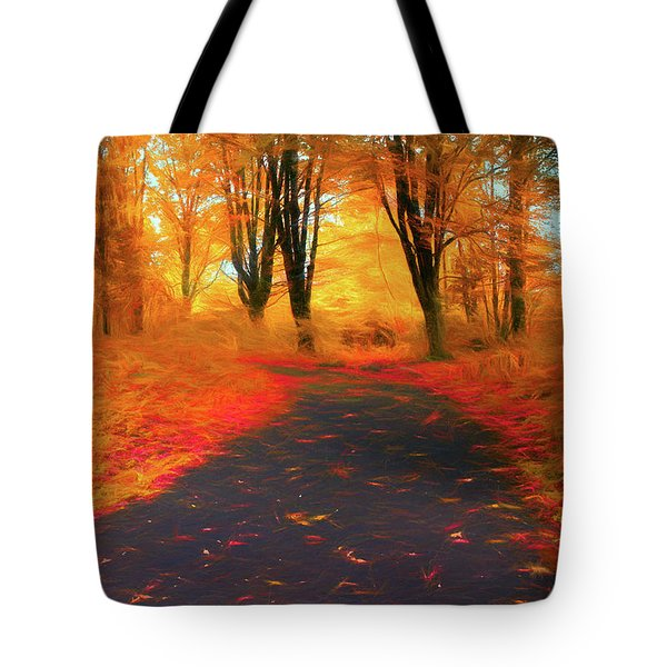 Emmaus Community Park Path - Colors Of Fall Tote Bag
