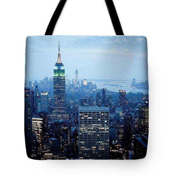 Empire In Blue Tote Bag