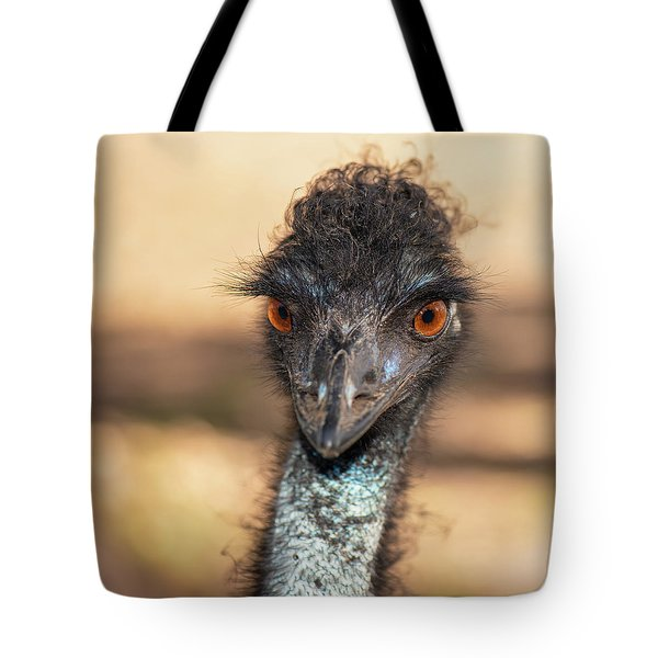 Emu By Itself Outdoors During The Daytime. Tote Bag