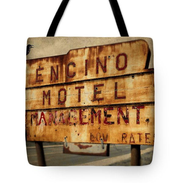 Tote Bag featuring the photograph Encino Hotel by Lou Novick
