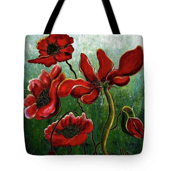 Endless Poppy Love Tote Bag