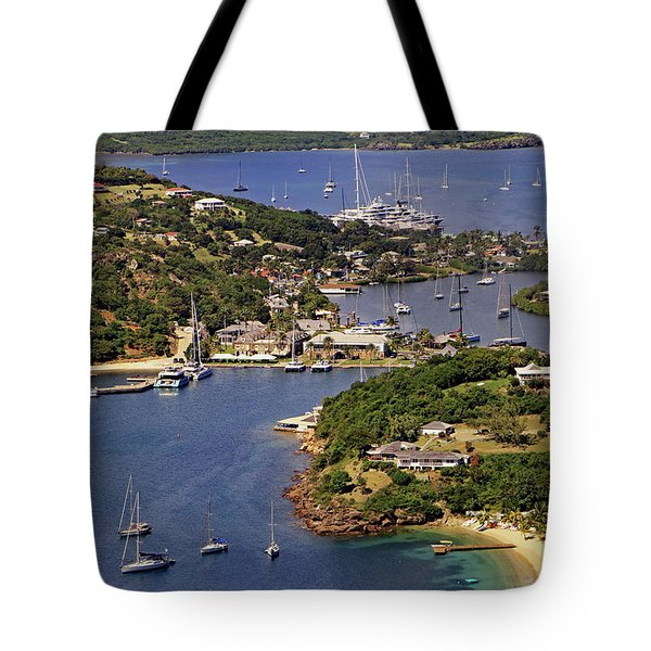 Tote Bag featuring the photograph English Harbour by Tony Murtagh