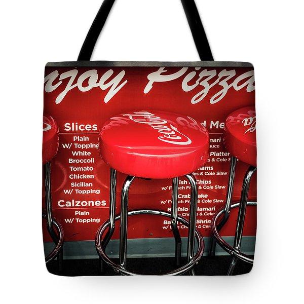 Enjoy Pizza And A Coke Tote Bag