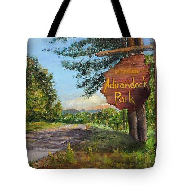 Entering The Adirondack Park Tote Bag